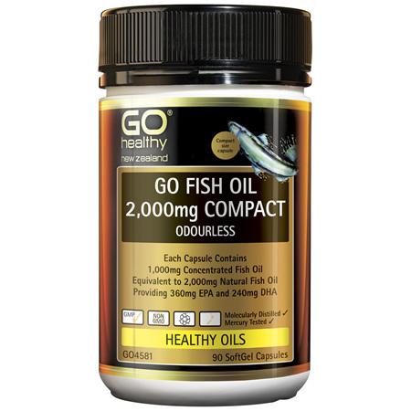 GO Fish Oil 2000mg Odourless 90caps