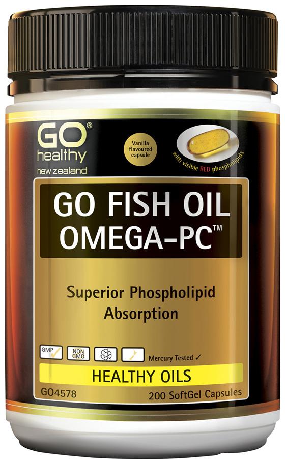 GO Fish Oil Omega-PC™ 200 Caps