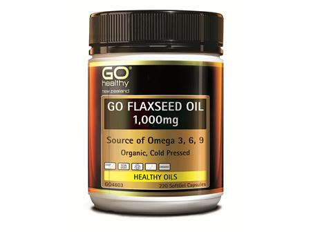 GO FLAXSEED OIL 1,000mg - NZ Organic Certified (220 caps)