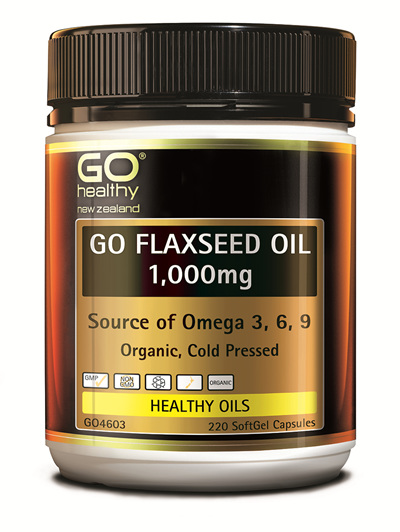GO FLAXSEED OIL 1,000mg - NZ Organic Certified (220 caps)
