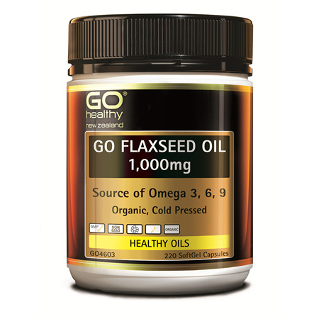 GO Flaxseed Oil 1000mg 220caps