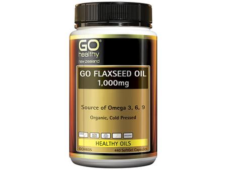 GO Flaxseed Oil 1,000mg Organic 440 Caps