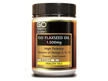 GO FLAXSEED OIL 1,500MG - (210 CAPS)