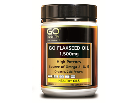 GO FLAXSEED OIL 1,500MG - (210 CAPS)