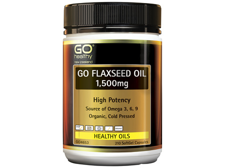 GO Flaxseed Oil 1,500mg Organic 210 Caps