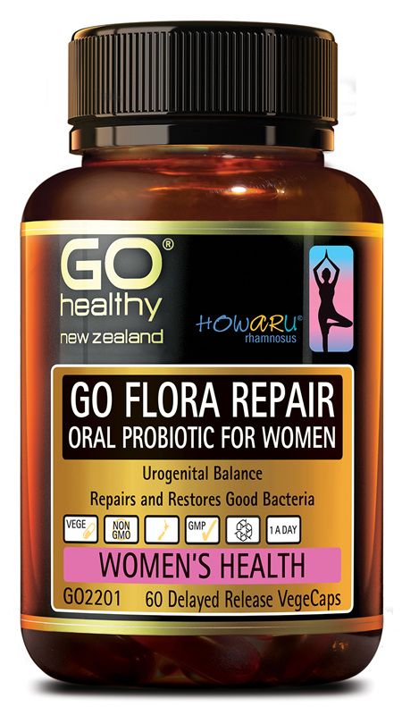 GO FLORA REPAIR - ORAL PROBIOTIC FOR WOMEN (60 VCAPS)