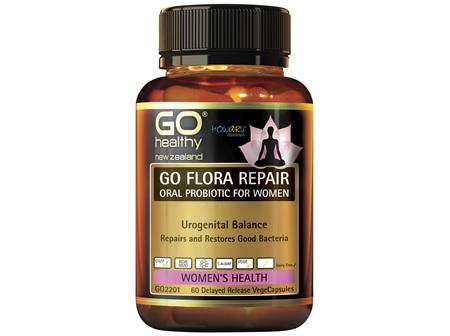 GO FLORA REPAIR  Oral Probiotic for Women 60 VCaps