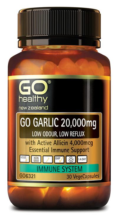 GO GARLIC 20,000mg - Low Odour, Low Reflux (30 Vcaps)