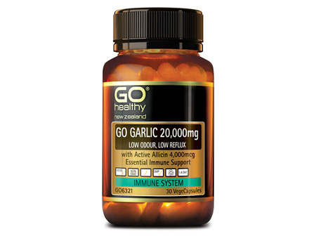 GO GARLIC 20,000mg - Low Odour, Low Reflux (30 Vcaps)