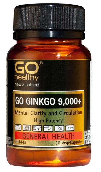 GO GINKGO 9,000+ - Mental Clarity (30 Vcaps)
