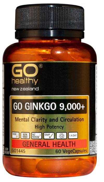GO GINKGO 9,000+ - Mental Clarity (60 Vcaps)