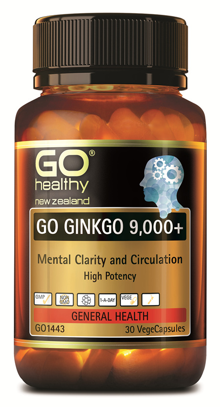 GO GINKGO 9,000+ - MENTAL CLARITY (30 VCAPS)