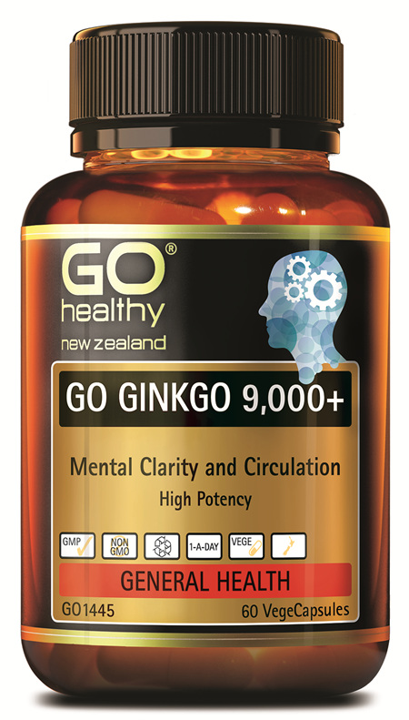 GO GINKGO 9,000+ - MENTAL CLARITY (60 VCAPS)