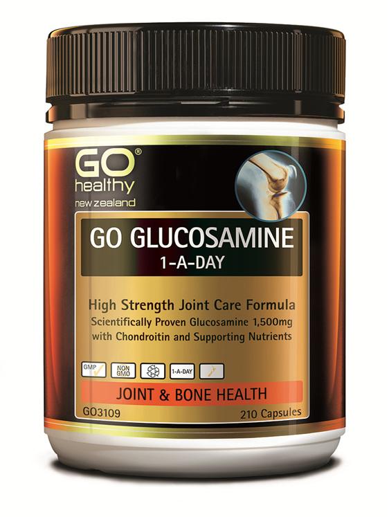 GO GLUCOSAMINE 1-A-DAY - High Strength Joint Care Formula (210 Caps)