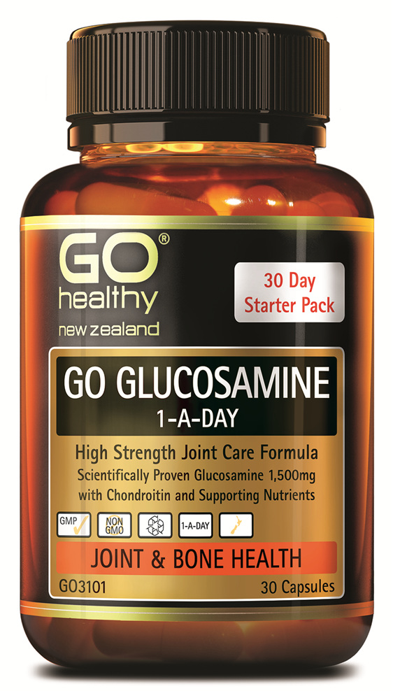 GO GLUCOSAMINE 1-A-DAY - High Strength Joint Care Formula (30 Caps)