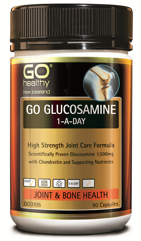 GO GLUCOSAMINE 1-A-DAY - High Strength Joint Care Formula (90 Caps)
