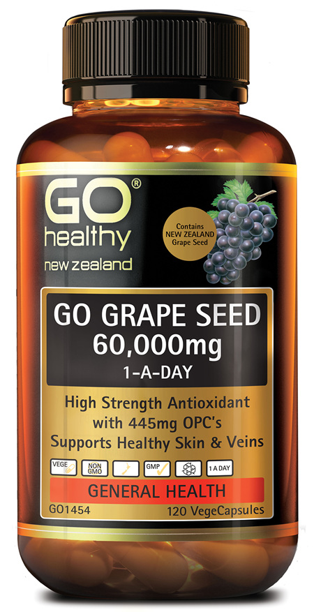 GO GRAPE SEED 60,000MG 1-A-DAY - HIGH STRENGTH ANTIOXIDANT (120 VCAPS)