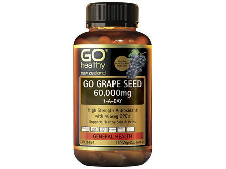 GO Grape Seed 60,000mg 1-A-Day 120 VCaps