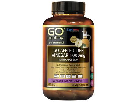 GO Health GO Apple Cider Vinegar with Capsi-Slim 1000mg 60 VegeCaps