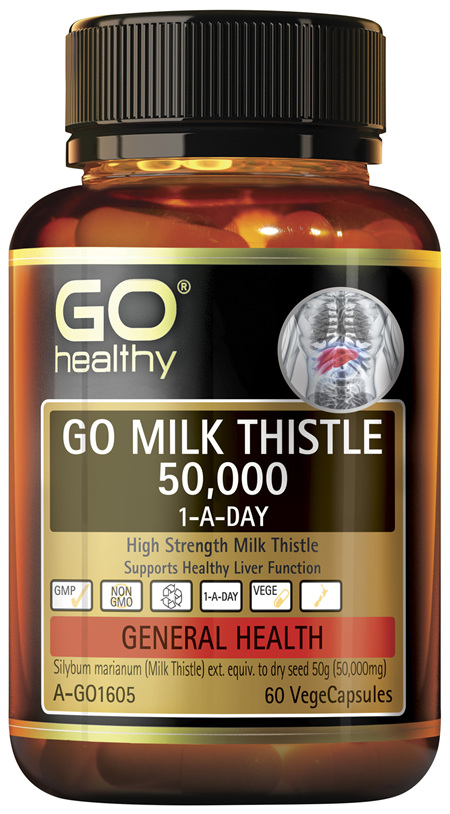 GO Health GO Milk Thistle 50,000 1-A-Day 60 VegeCapsules