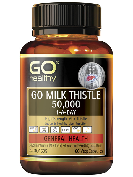 GO Health GO Milk Thistle 50,000 1-A-Day 60 VegeCapsules