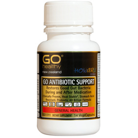Go Healthy Antibiotic Support shelf stable 12 vege caps