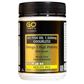 Go Healthy Fish Oil 1,500mg Odourless 210 softgel caps