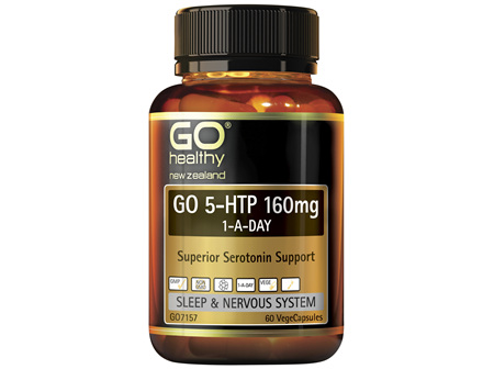 GO Healthy GO 5-HTP 160mg 1-A-DAY 60 VegeCaps