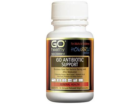 GO Healthy GO Antibiotic Support 14 VegeCaps