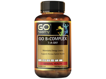 GO Healthy GO B Complex 1-A-Day 120 VegeCapsules