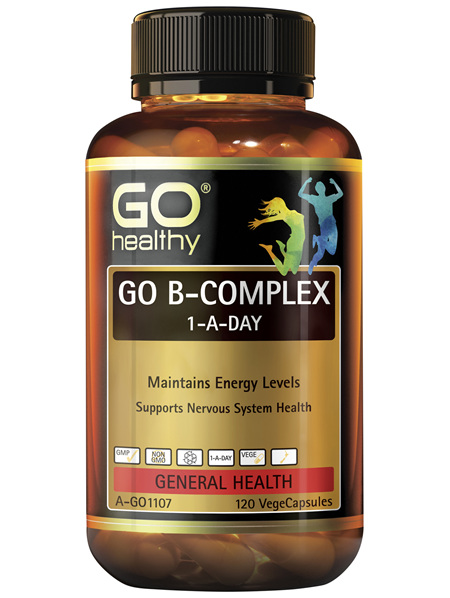 GO Healthy GO B Complex 1-A-Day 120 VegeCapsules