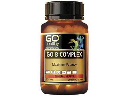 GO Healthy GO B Complex 30 VegeCapsules
