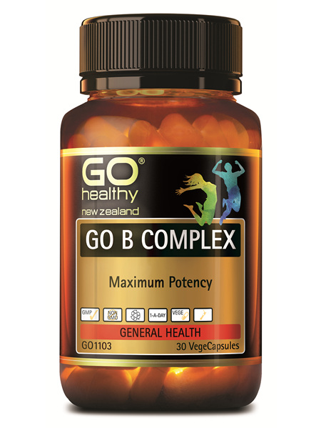 GO Healthy GO B Complex 30 VegeCapsules