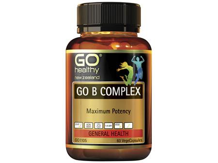 GO Healthy GO B Complex Maximum Potency 60 VegeCaps