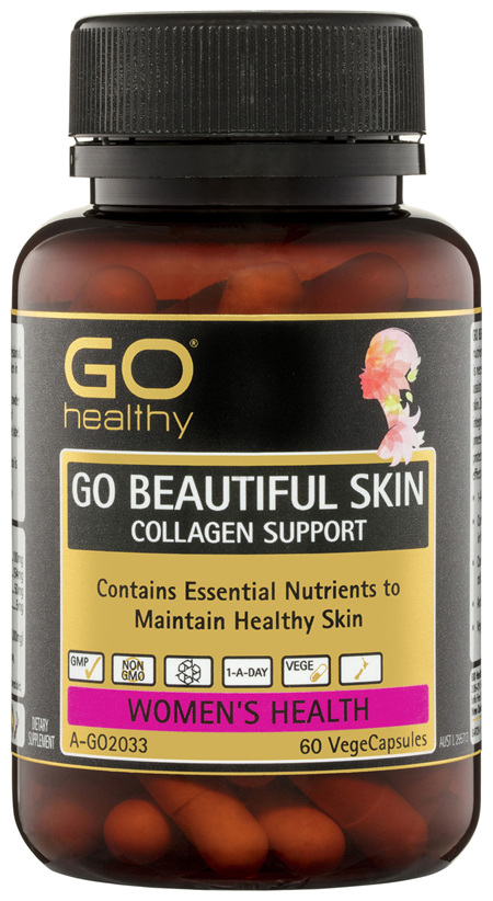 GO Healthy GO Beautiful Skin Collagen Support VegeCapsules 60 Pack