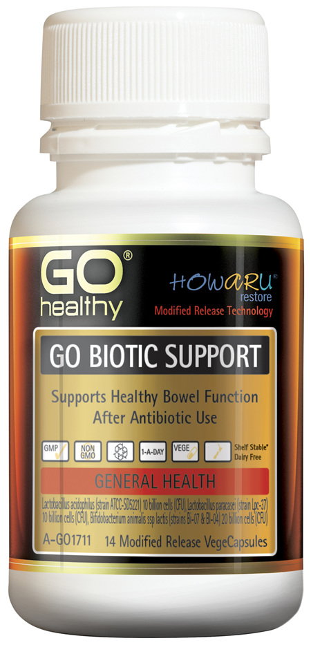 GO Healthy GO Biotic Support 14 Modified Release VegeCapsules