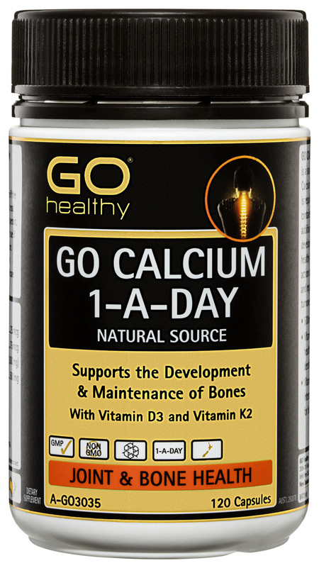GO Healthy GO Calcium 1-A-Day Natural Source Capsules 120 Pack