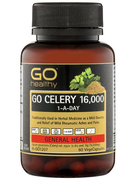 GO Healthy GO Celery 16,000 1-A-Day VegeCapsules 60 Pack