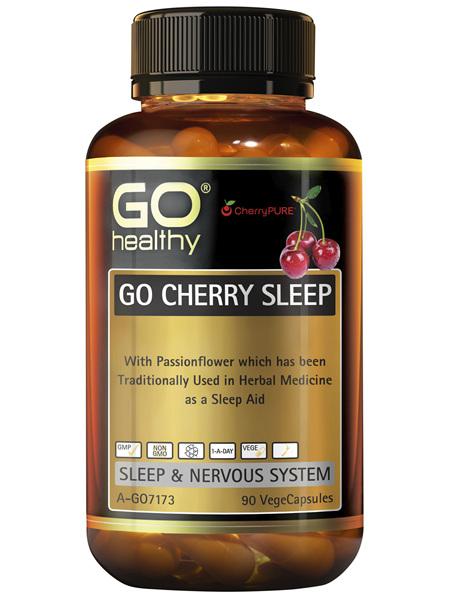 GO Healthy GO Cherry Sleep 90 VegeCapsules