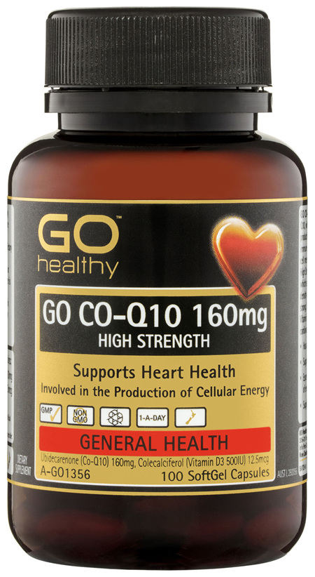 GO Healthy GO Co-Q10 160mg High Strength SoftGel Capsules 100 Pack