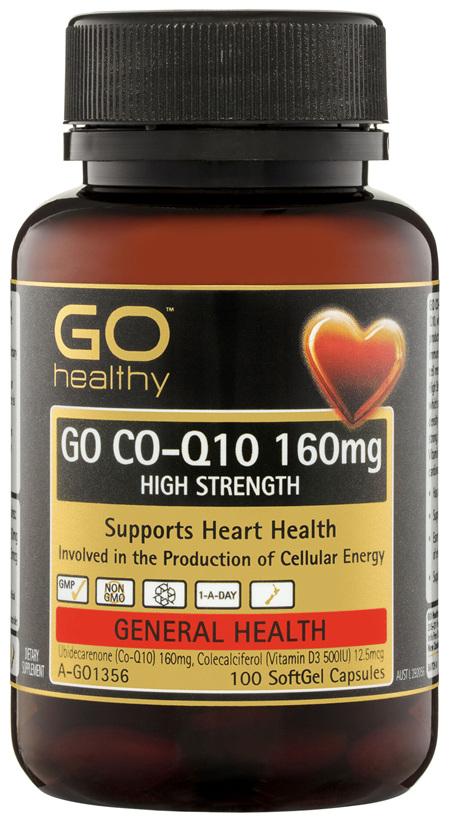 GO Healthy GO Co-Q10 160mg High Strength SoftGel Capsules 100 Pack