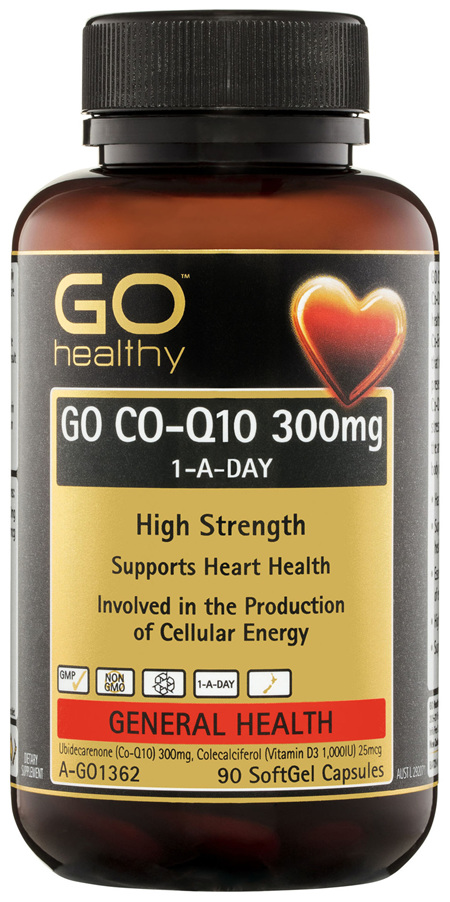 GO Healthy GO Co-Q10 300mg 1-A-Day SoftGel Capsules 90 Pack