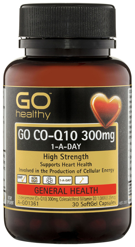 GO Healthy GO Co-Q10 300mg 1-A-Day SoftGel Capsules 30 Pack
