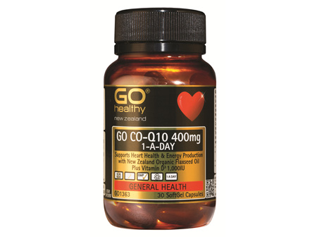 GO Healthy GO CO-Q10 400mg 1-A-DAY 30 Caps