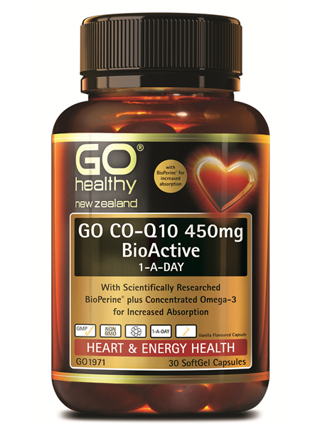 GO Healthy GO CO-Q10 450mg 1-A-Day 30 SoftGel Capsules