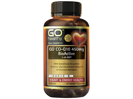 GO Healthy GO CO-Q10 450mg 1-A-Day 60 SoftGel Capsules