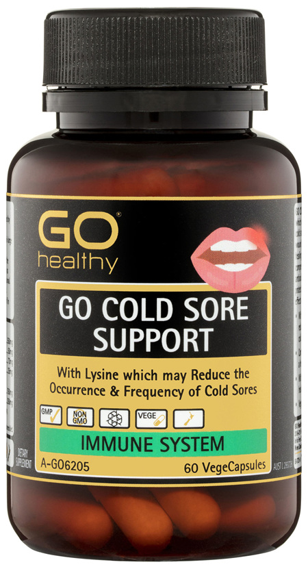 GO Healthy GO Cold Sore Support VegeCapsules 60 Pack