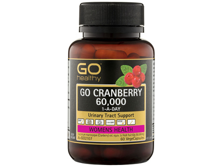 GO Healthy GO Cranberry 60,000 1-A-Day VegeCapsules 60 Pack