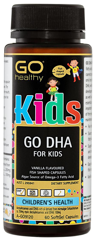 GO Healthy GO DHA For Kids SoftGel Capsules 60 Pack