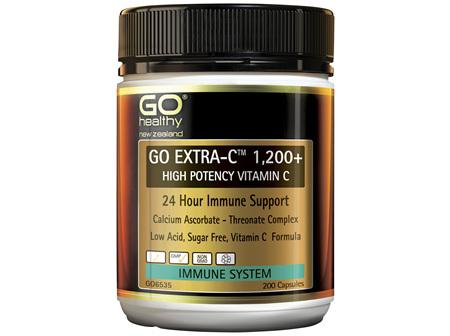 GO Healthy GO Extra-C 1,200mg+ Vitamin C 200 Capsules